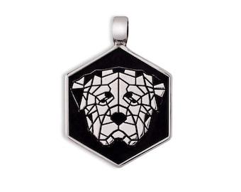 Rottweiler dog tag Silver 925