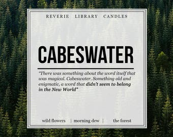 Cabeswater ~ The Raven Cycle ~ 4 oz ~ Soy Candle for Bibliophiles
