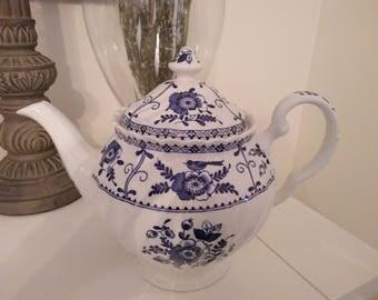 Johnson Bros Blue Indies English Tea pot