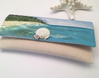 Sosua Beach handmade clutch