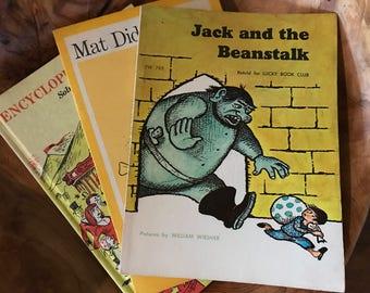 3 Vintage 1960's Children's book // Collectible // Boho // Kids Room // Set