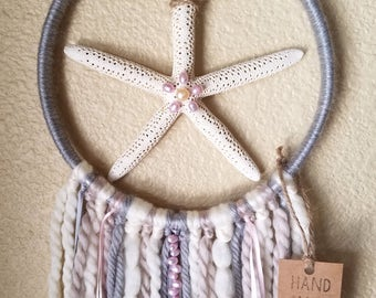 Starfish Dreamcatcher with Real Freshwater Pearls
