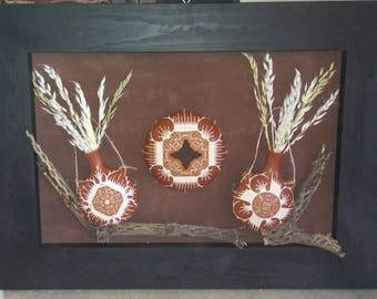 Picture Frame, 3D made out of fine pottery, hand made fine arts and craft.