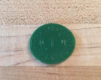 State of Utah #1 Sales Tax Token, Green, Coin