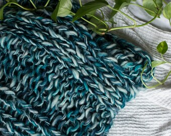 Aqua 100% Merino Wool Throw