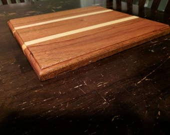 Mahogany and Maple Cutting Board