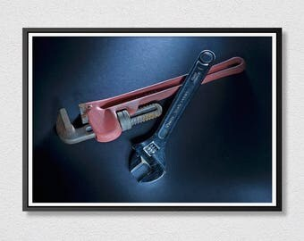 Tools Printable Art - Wrench  Photo - Photograph Art - Instant Download - Printable Art - Housewarming Gift - Father's Day Gift.