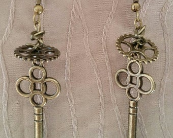 Key Gear Earrings