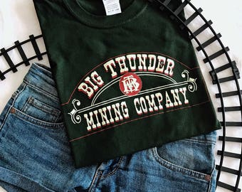 Disney Inspired Unisex Big Thunder Mountain Mining Company Logo T-Shirt