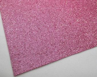 SAMPLE 4X4 Pink Blush Fine Glitter 4X4 Fabric Sheet, Matching Backing