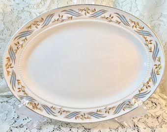 Oval Serving Platter in Arlington by Harmony House China - 11 Inch