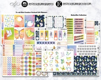 Butterflies Collection // A La Carte // Erin Condren Vertical  and Happy Planner Classic [008]
