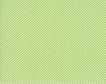 Moda//Bonnie Camille Basic//Basic Scrumptious Stripe Light Green//Premium Quilting Cotton//100% Cotton Fabric//Bonnie Camille//LWF
