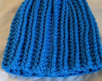 Light Blue Ribbed Hat