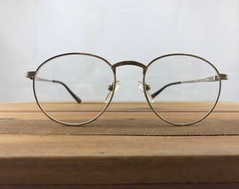 90's Vintage Bugle Boy Golden Eyeglasses