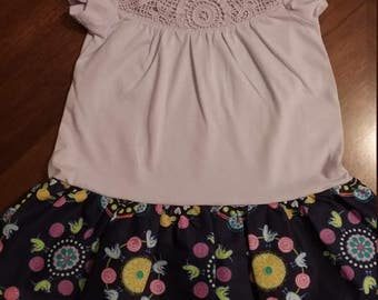 Childrens dresses back to school prices and skirt lengths to the knee. I can make any sizes and matching.