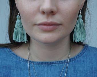 Tassel Earrings - Arctic