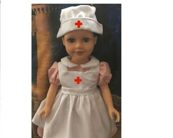 Nurse's Outfit for American Girl/Our Generation/Journey Girls/18'' dolls