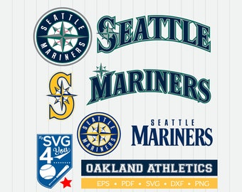 Seattle Mariners Cut Files, SVG Files, Baseball Clipart, Cricut Seattle Mariners Cutting Files, Baseball DXF, Clipart, Instant Download
