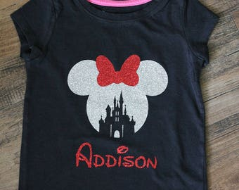 Personalized Disney Tee ~ Minnie Mouse ~ Disney Castle ~ Disney Vacation