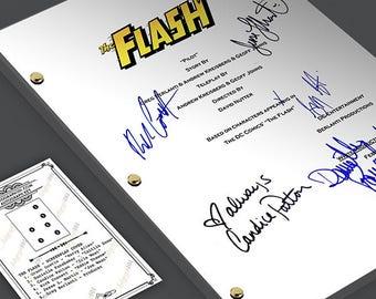 The Flash TV Pilot Episode TV Script Screenplay -  Signed Autograph Reprint - Grant Gustin, Candice Patton, Danielle Panabaker, Rick Cosne