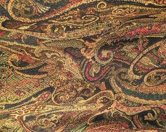 Black Paisley Tapestry
