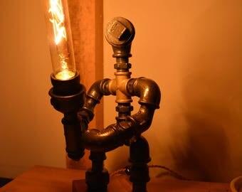 """Steampunk Star Wars Lamp """"Jedi Knight"""" - LED"""
