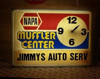 Vintage Napa Auto Repair Shop Sign
