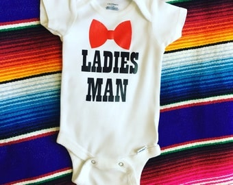 Ladies Man 0-3 month onesie