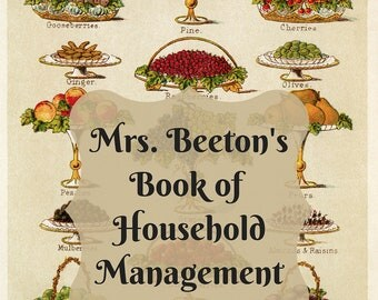 Mrs. Beeton's Household Management Guide Coloring Packet