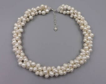 """19.5"""" Cultured fresh water pearl necklace with 1.5"""" extender"""