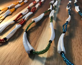 Beaded Dentalium Native American Necklaces
