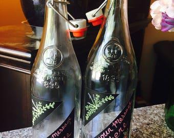 Chalkboard Soda Bottles