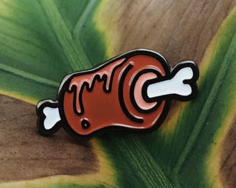 Meat Enamel Pin