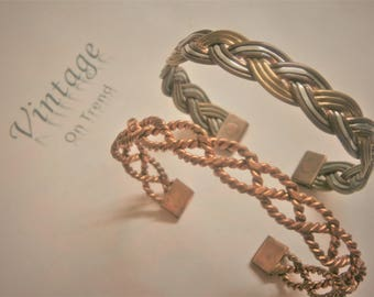 Vintage Bangles - Copper, Silver & Brass