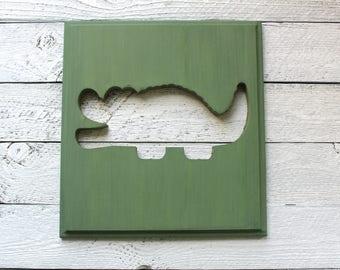 Alligator Nursery, Alligator Wall Art, Rustic Nursery Decor, Rustic Baby Decor, Animal Nursery Decor, Animal Nursery Art, Rustic Wood Signs