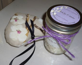 Candles,  Soy Wax , scented, Black fig & Vetiver,  quilted glass ,mason jar, container candle