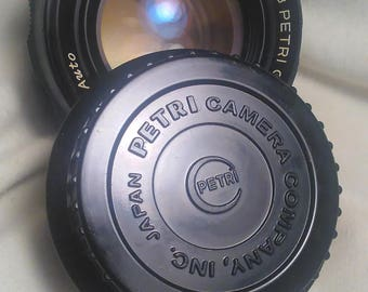 55mm Petri Lens #307533 W/ Case