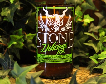 Stone Delicious IPA - Recycled Beer Candle