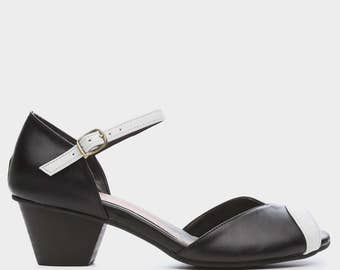 VEGAN Black Alexandria High Heel Shoes, Handmade Vegan Leather Shoes, Comfortable High Heels, Wedding Shoes by B.Unique-Mizu - FREE SHIPPING