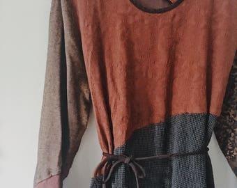 OOAK pathwork vintage dress *Made in USA*