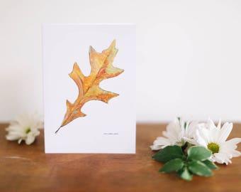 Oak Leaf Greeting Card and Note Card
