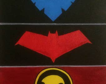 Batfamily simple logo painting