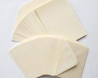 10 x Ivory Card Blanks & Envelopes C6 - Card Making Craft Stationery