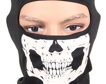 Skull balaclava face mask black