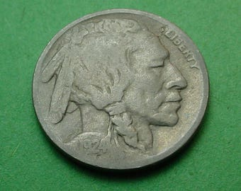 1924-D  Buffalo Nickel Very Good   FREE SH In United States # ET123