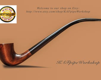 Smoking pipe KAF233/Gandalf pipe/Tobacco pipe churchwarden/Lord of the Ring/Wizard pipe LOTR/Hobbit pipe/Sherlock Holmes pipe/Long stem pipe