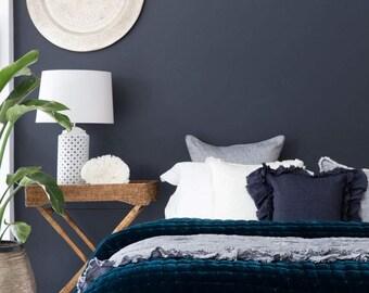Allure Silk Velvet & Natural Linen Reversible Quilt - Queen Size