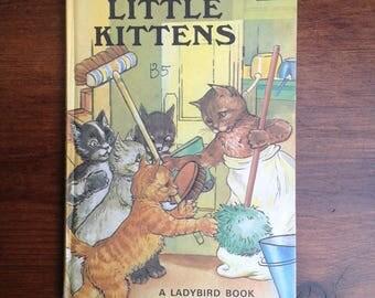 Vintage ladybird book Five little kittens 1970s Matt cover