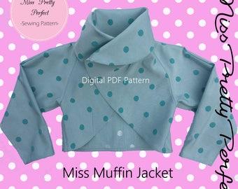 Girls Wide Collar Jacket Sewing Pattern PDF